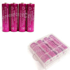 1 x Case Holder Storage Box + 4 pcs AA Ni-Cd 900mAh rechargeable battery Rose