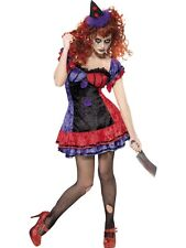 NEW Ladies Sinister Bobo The Clown Halloween Adult Fancy Dress Circus Costume