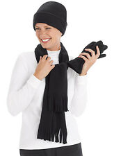 NEW* Womens 4 pc Hat/Gloves & Scarf Set in Red or Black/OSFA/Great Gift! WOW!