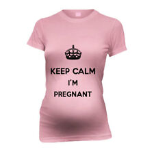 Keep Calm I'M Pregnant New Mom Funny Maternity T-Shirt Tee Shirt Top Baby Showe