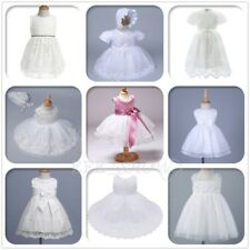 Newborn Infant Baby Princess Girls Formal Christening Baptism Flower Girl Dress