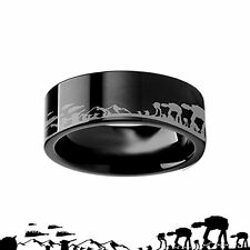 8 MM Star Wars Alliance Galactic Imperial ATAT ATST Ring