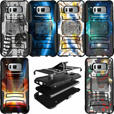 Dual Layer Cover Clip Stand Heavy Duty Protective Case for [Samsung S8 S7 S6]