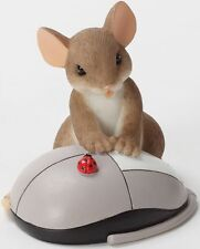 Charming Tails I REALLY CLICK WITH YOU Mouse With Computer Mouse Figurine Mice