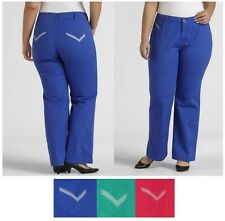 Beverly Drive jeans pants bootcut womens plus colored sizes 16W 18W 24W NEW