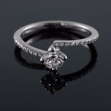 Pave 14/18K White Gold 0.57-0.93 CT E VS1 Round Diamond Engagement Ring Enhanced