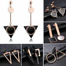 Women Fashion Titanium Steel Geometry Triangle Long Drop/Dangle Earrings Jewelry