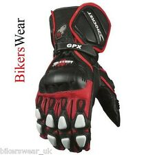 Joe Rocket GPX 2 Black / Red Leather Motorcycle Racing & Sport Gloves Size S