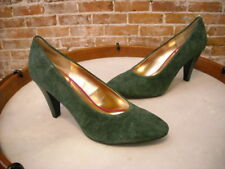 Seychelles Hunter Green Suede Vintage Inspired Magic Words Pump NEW