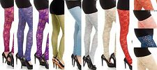 15 Colors Gorgeous Bright & Sexy Stretch Lace Footless Leggings S M L