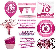 PERFECTLY PINK Girl Age 18 Happy 18th Birthday PARTY ITEMS Decorations Tableware