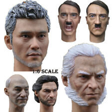 "1/6 Scale Male's Head Sculpt Carved Headplay For 12"" Muscular Action Figure Body"
