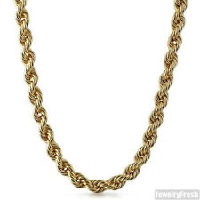 10mm Large Gold Plated Hip Hop Rope Chain Mens Necklace