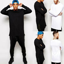 Men Sport Slim Soft Cotton V-Neck Long Sleeve Casual Tee Shirts Basic Top Blouse