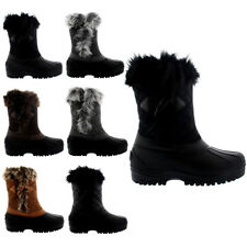 Womens Toggle Waterproof Fur Lined Winter Muck Thermal Mid Calf Boots US 5-12