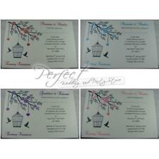 Wedding Evening Reception Invitation Personalised Invite 18 Colours & Envelope