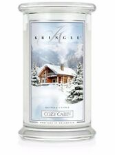 KRINGLE CANDLES Cozy Cabin  Jar CANDLE 22 oz  Burn Time 100 hrs.