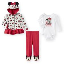 """Disney Baby 3 Piece Minnie Mouse """"So Cute Like Mommy"""" Hoodie, Bodysuit and Footi"""