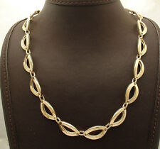 Polished Marquise Link Chain Necklace Senora Clasp Real 14K Yellow Gold QVC