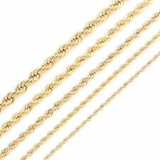 Gold Plating Rope Chain Unisex Stainless Steel Necklace