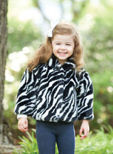 Mud Pie Baby ZEBRA FAUX FUR COAT 190165 Wild Child Collection