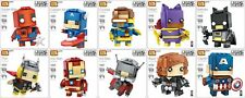 LOZ MINI BLOCK BRICK HEADZ - JOKER, BATMAN, THOR, SPIDER-MAN........