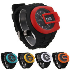 Unisex Silicone Quartz Sports Style Watch Men Women Jelly Wrist Watch 5 Colours