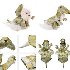 Halloween Pet Dog Cat Coat Clothes Dinosaur Hooded Cosplay Dress Up Costumes
