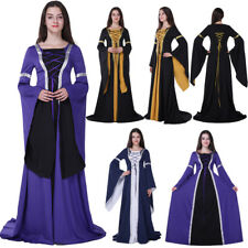 Halloween Costume Wench Victorian Renaissance Dress Gown Witch Medieval Cosplay