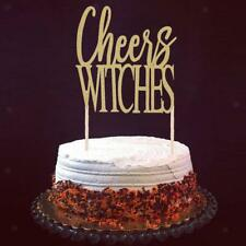 Pack of 20pcs Glitter Halloween Cheers Witches Cake Toppers Party Decoration