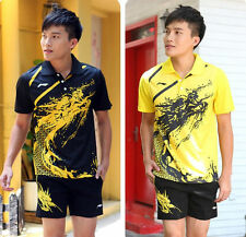Li Ning Men's table tennis Clothing/Badminton Set shirt+shorts Tracksuit 1036A
