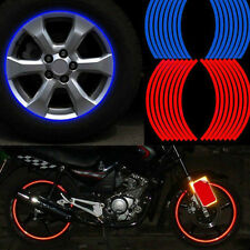 New 16 Strips Decal Reflective Motorcycle Car Rim Stripe Wheel Tape Stickers