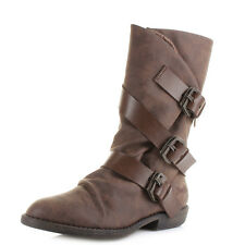 Womens Blowfish Alms Brown Texas PU Pisa Mid Calf Boots UK Size