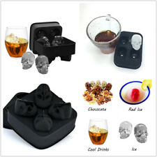 Silicon Ice Cube Ball Maker Mold Mould 3D Skull Brick Halloween Party Tray