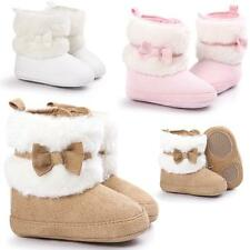 Girl Baby Bow Warm Cotton Boots Soft Soled Shoes Soft Crib Shoes Toddler Boots