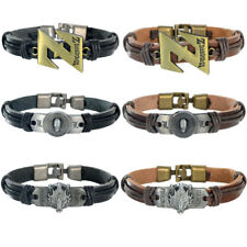 Final Fantasy Dragon Ball Z Death Note Leather Alloy Bracelet Bangle Wristband
