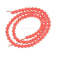 "Natural Coral Beads Orange Spacer Loose Bead Boho 4mm 5mm 15"" Strand"