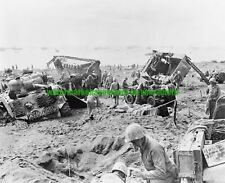 USMC Iwo Jima 1945 Black n White Photo Navy Army WWII  Military M4 SHERMAN