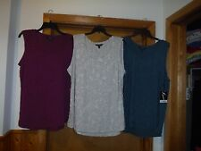Sleeveless Tank Blouses Simply Vera Vera Wang size XL,LG,some color NWT