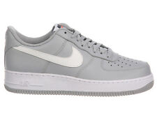 NEW MENS NIKE AIR FORCE 1 LOW BASKETBALL SHOES TRAINERS WOLF GREY / WHITE / WHIT