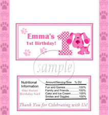 Blues Clues Magenta Candy Wrapper Labels Birthday Party Favors ANY AGE