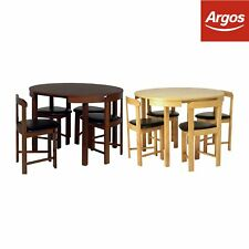 Hygena Alena Circular Dining Table and 4 Chairs - Choice of Colour -From Argos