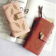 Fashion Women Leather Leaf Clutch Long Wallet Lady Card Holder Purse Handbag Hot