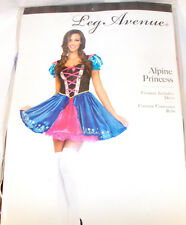 Leg Avenue Alpine Princess Pink Blue Heidi Costume Dress Adult S M L NIP