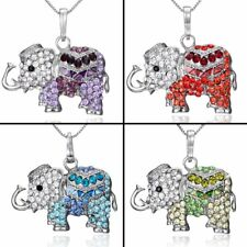 Fashion CZ Elephant Animal Crystal Pendant Necklace Jewelry Women Party Gift New