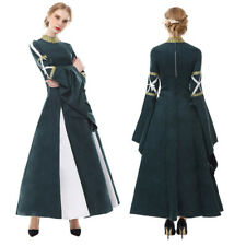 Women Medieval Renaissance Over Dress Costume Queen Wench Halloween Retro Gown