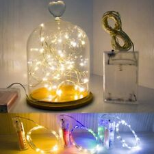 2M 4M Battery Operated LED String Fairy Light Copper Wire Halloween Xmas Party