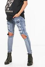 Boohoo Womens Maternity Millie Ultra Distressed Over The Bump Skinny Jean in