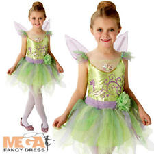 Deluxe Tinkerbell Girls Fancy Dress Disney Fairy Tale Book Day Child Kid Costume