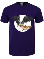 Crime Fighting Bat and Robin Men's Purple T-shirt